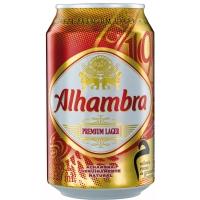 LATA CERVEZA ALHAMBRA 33CL