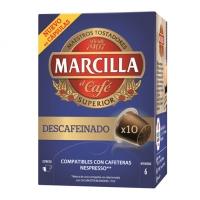 CAFÉ MARCILLA DESCAFEINADO CAPSULAS 10U