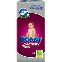 PAÑAL DODOT ACTIVITY  T-3  4-10KG  58U